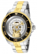 Invicta Men's 24910 Character  Quartz 3 Hand Silver, Gold Dial Watch