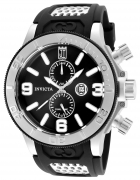 Invicta Men's 25186 Jason Taylor Quartz Multifunction Black Dial Watch