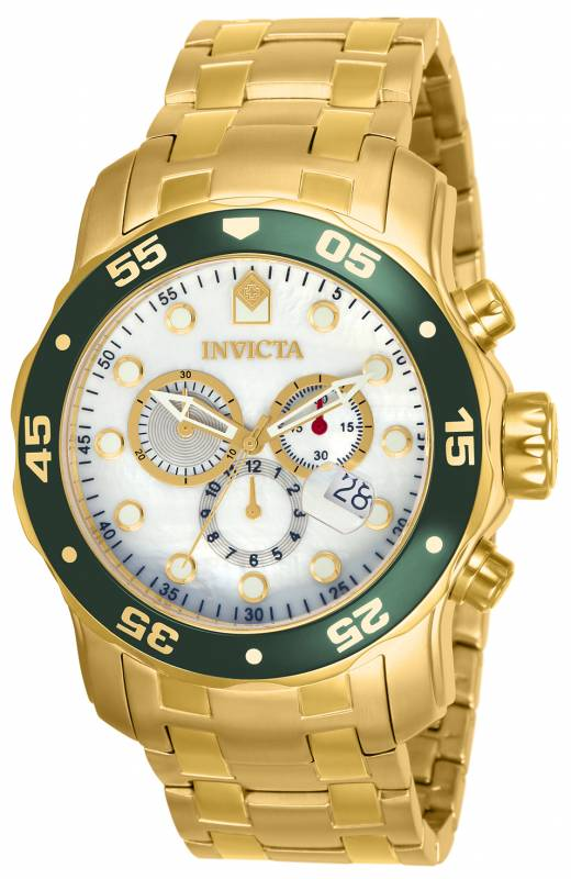 Invicta Men's 80073 Pro Diver Quartz 3 Hand White Dial Watch