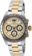 Invicta Men's 90183 Speedway Quartz Chronograph Gold Dial Watch