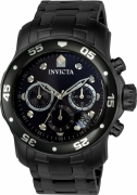 Invicta Men's ILE0076A Pro Diver Quartz Chronograph Grey Dial Watch