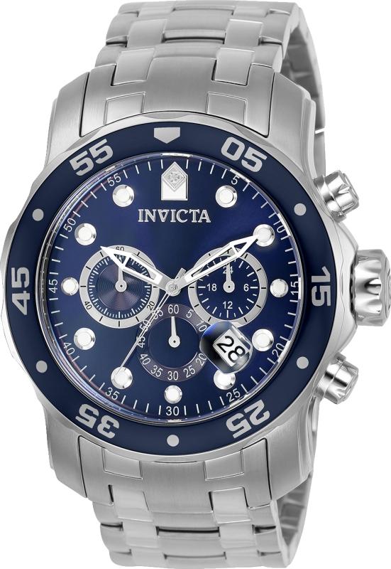Invicta Men's 0070 Pro Diver Quartz Chronograph Blue Dial Watch
