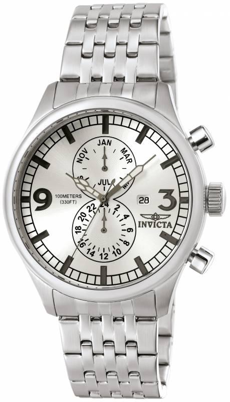 Invicta Men's 0366 Specialty Quartz Multifunction Silver Dial Watch