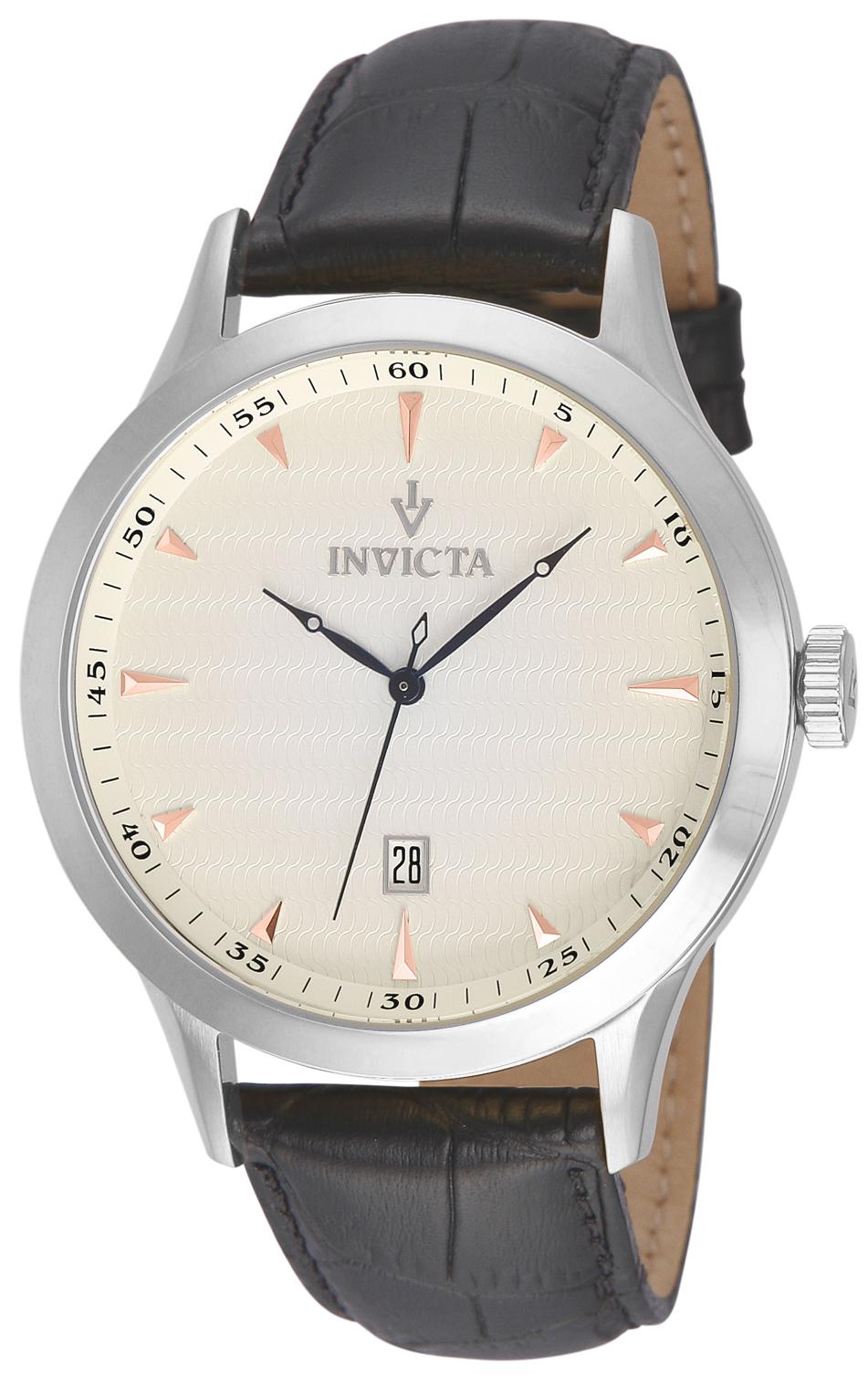 Invicta Men's 12222 Vintage Quartz 3 Hand Metallic White Dial Watch
