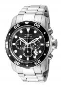 Invicta Men's 15081 Pro Diver Quartz 3 Hand Black Dial Watch