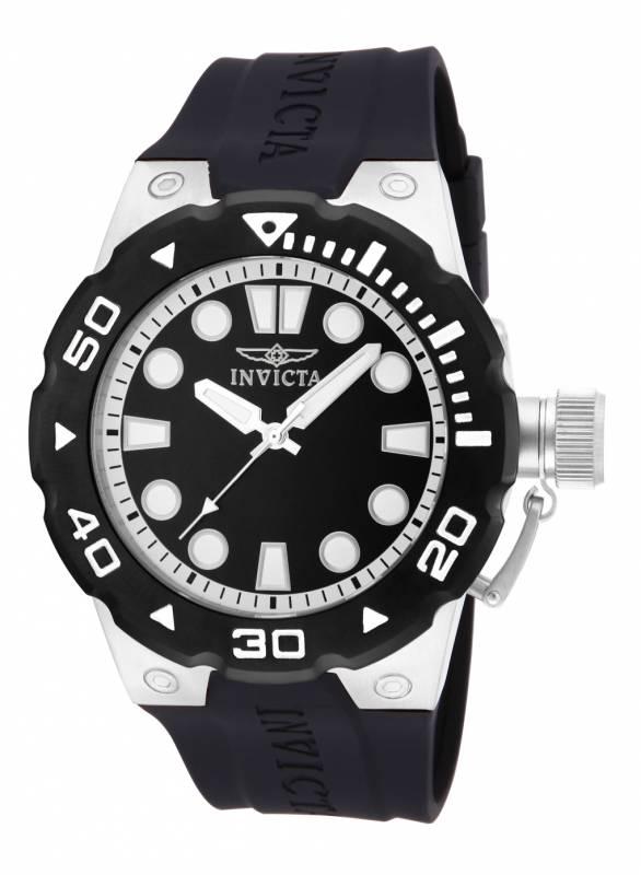 Invicta Men's 16134 Pro Diver Quartz 3 Hand Black Dial Watch