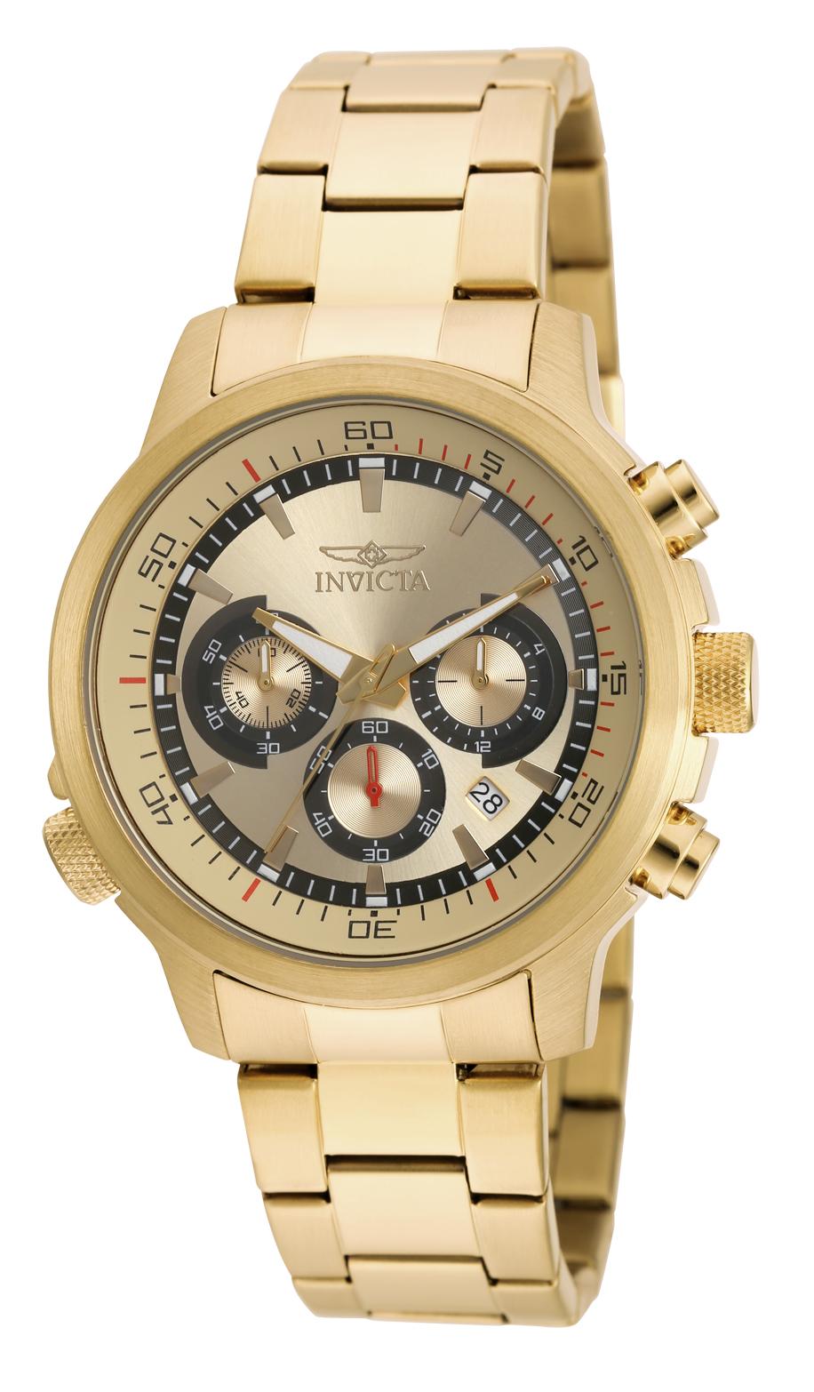 Invicta Men's 19240 Specialty Quartz Chronograph Gold Dial Watch