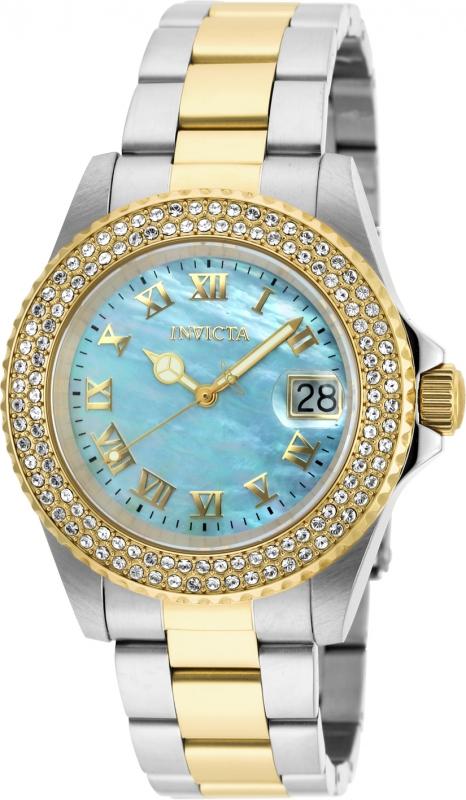 Invicta Women's 20368 Sea Base Quartz 3 Hand Light Blue Dial Watch