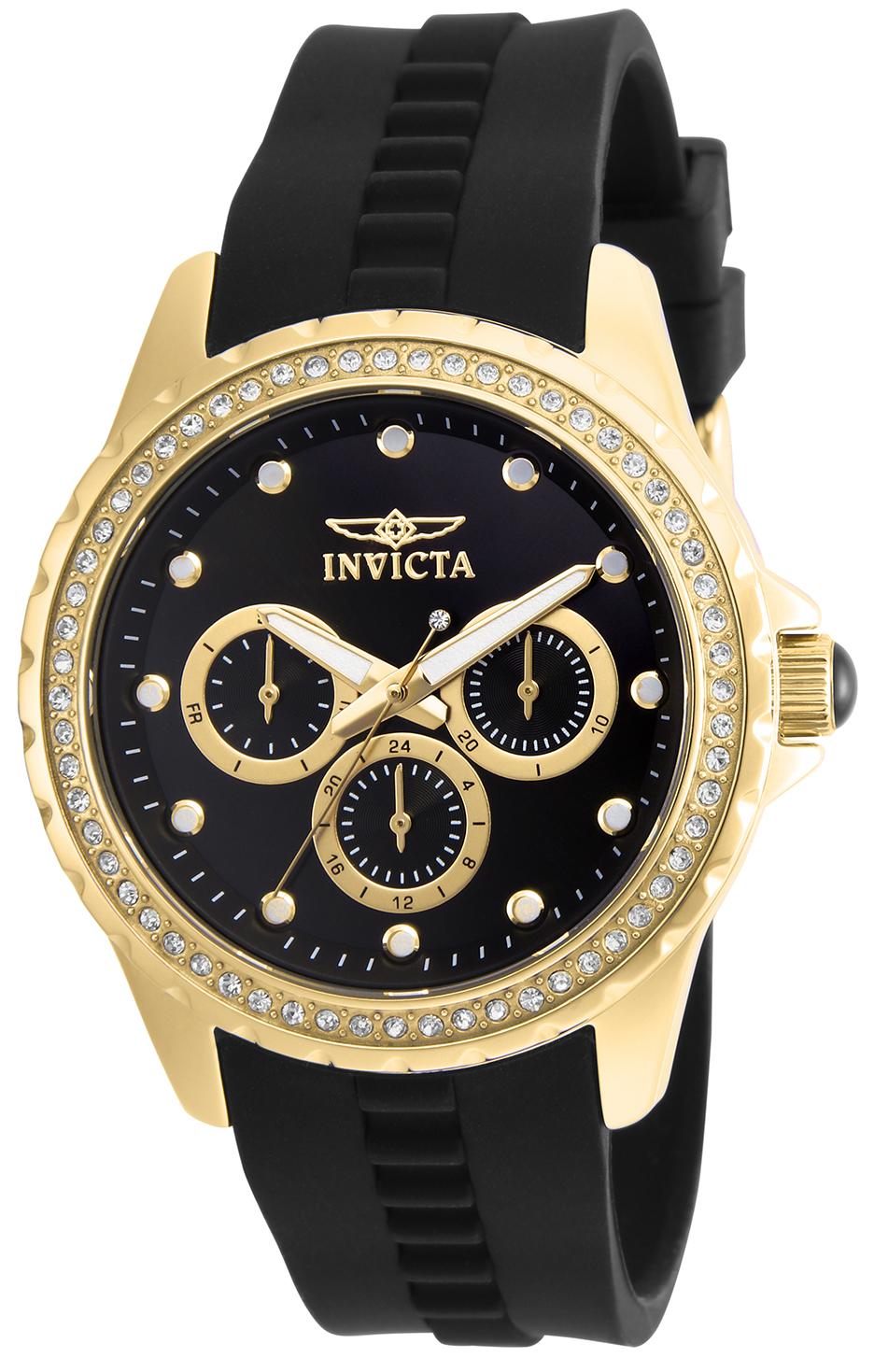 Invicta Women's 21904 Angel Quartz Chronograph Black Dial Watch
