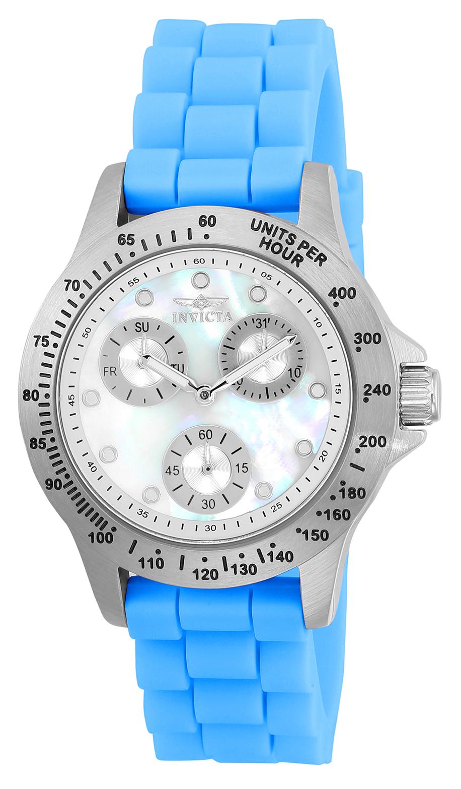 Invicta Women's 21970 Speedway Quartz Chronograph White Dial Watch