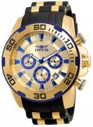 Invicta Men's 22308 Pro Diver Quartz Chronograph Gold Dial Watch