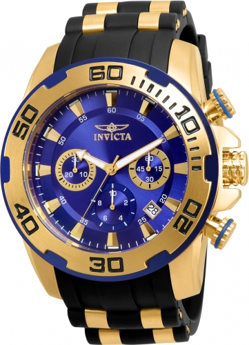 Invicta Men's 22313 Pro Diver Quartz Chronograph Blue Dial Watch
