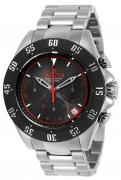 Invicta Men's 22395 Speedway Quartz Chronograph Gunmetal, Black, Red Dial Watch