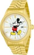 Invicta Men's 22770 Disney Quartz 3 Hand Silver Dial Watch
