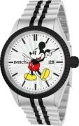 Invicta Men's 22773 Disney Quartz 3 Hand Silver Dial Watch