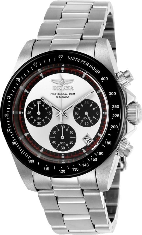 Invicta Men's 23121 Speedway Quartz Chronograph White Dial Watch