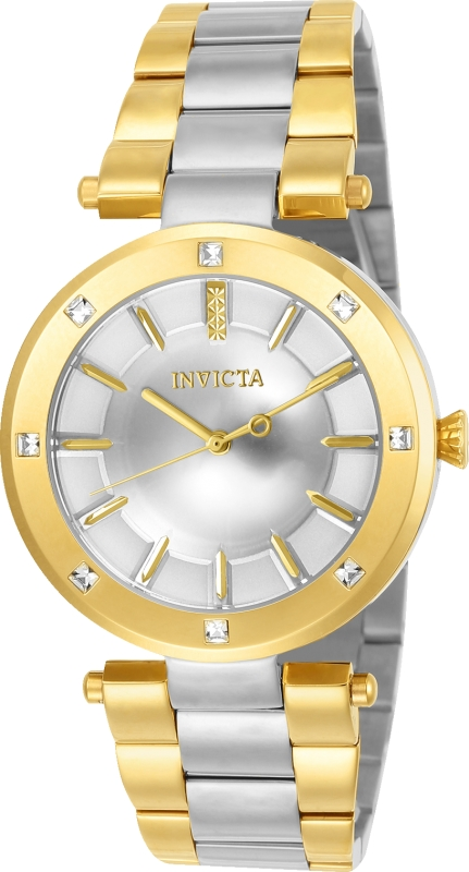 Invicta Women's 23725 Angel Quartz 3 Hand Silver Dial Watch