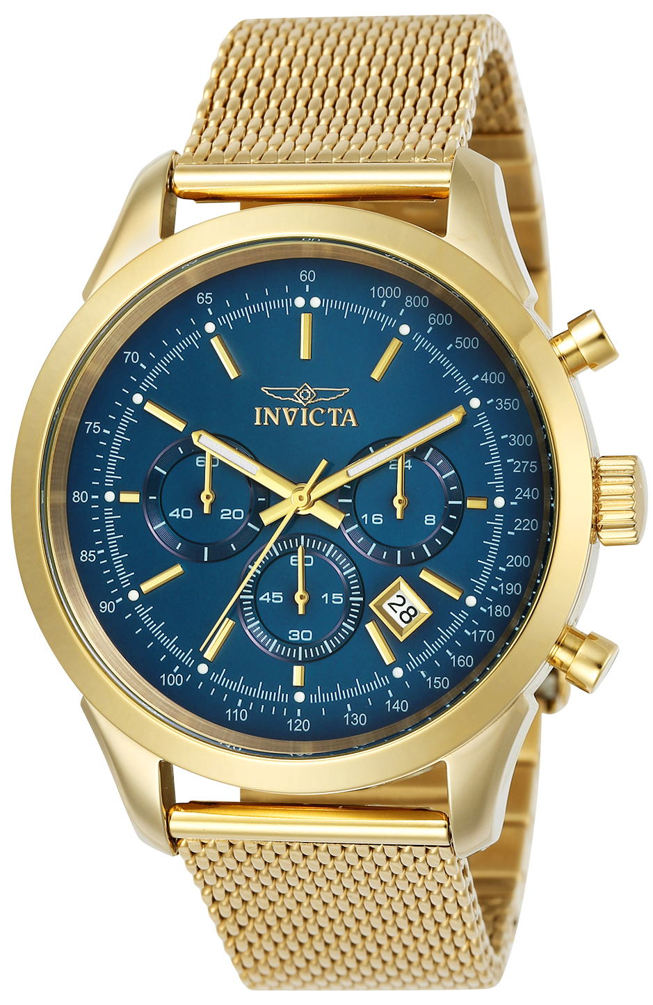 Invicta Men's 25224 Speedway Quartz Chronograph Blue Dial Watch
