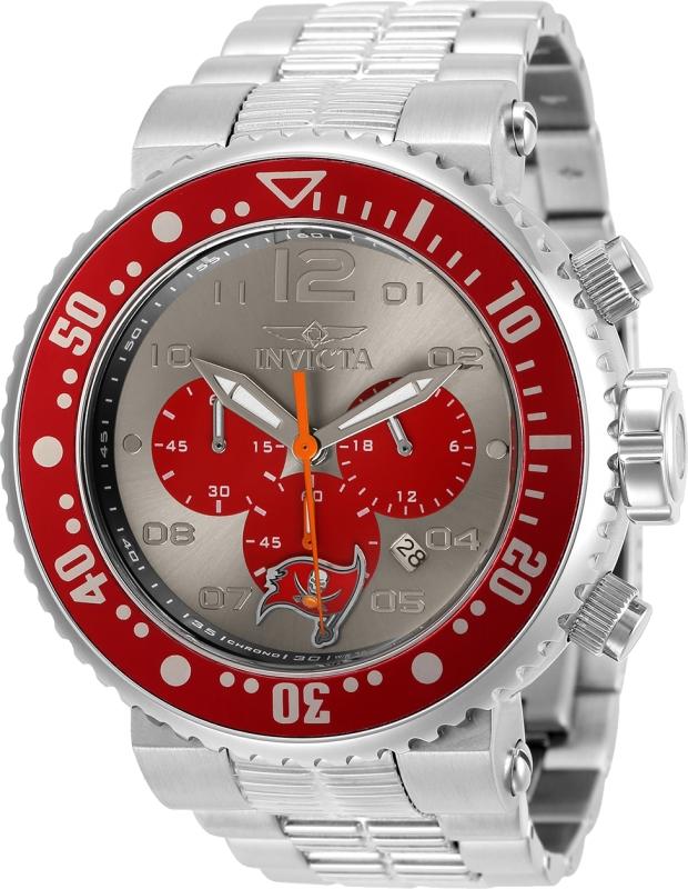 Chronograph   Buccaneer   Quartz   Tampa   Watch   Bay   NFL   Men   Red