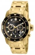 Invicta Men's 80064 Pro Diver Quartz Chronograph Charcoal Dial Watch
