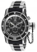 Invicta Men's 90093 Russian Diver Quartz Chronograph Black Dial Watch