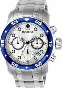 Invicta Men's ILE0070A Pro Diver Quartz Chronograph Blue Dial Watch