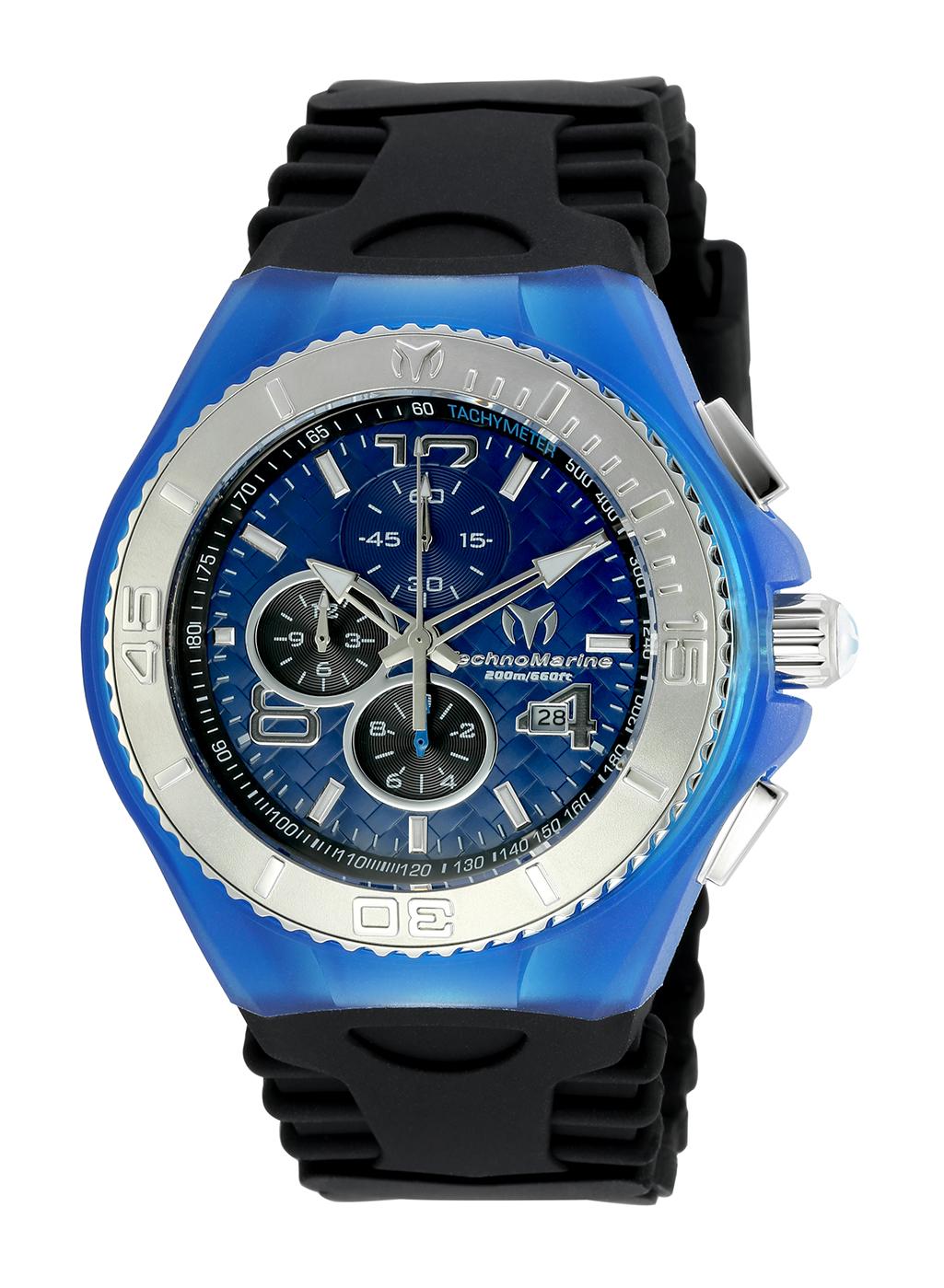 TR Men's TM-115114 Cruise JellyFish Quartz Blue Dial Watch